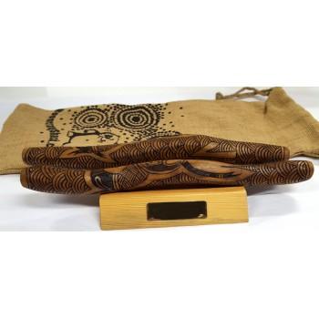 Aboriginal Clap Sticks - Hand Burnt