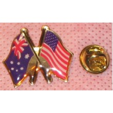 Lapel Pin - Australian & USA Flags