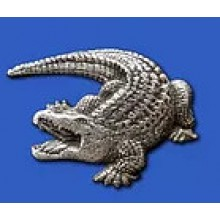 Lapel Pewter Pin - Crocodile