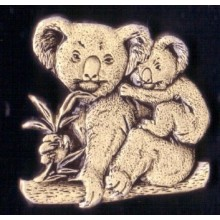 Lapel Pewter Pin - Koala with Baby