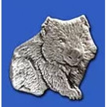 Lapel Pewter Pin - Wombat