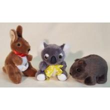 Kangaroo Koala Wombat Toy Set