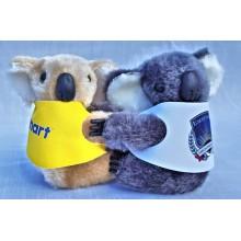 Promotional Large Clip-on Koala Toys | Clip-on Koalas in Corporate Jackets