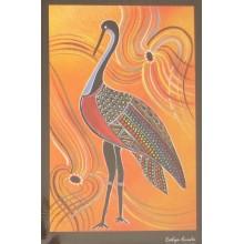 Aboriginal Art Print - Brolga
