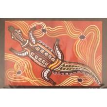 Aboriginal Art Print - Crocodile
