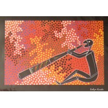 Aboriginal Art Print - Didgeridoo