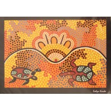 Aboriginal Art Print - Turtle