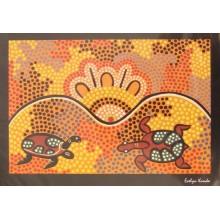 Aboriginal Art Print - Turtle