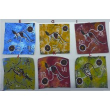 Aboriginal Art Hand Painted Canvas - 10x10cm - Contemporary Art