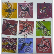 Aboriginal Art Hand Painted Canvas - 10x10cm - Dot Art