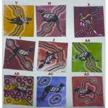 Aboriginal Art Hand Painted Canvas - 10x10cm - Dot Art