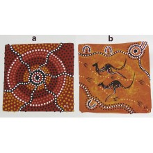 Aboriginal Art Hand Painted Canvas - 15x15cm - Dot Art