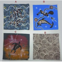 Aboriginal Art Assorted Hand Painted Canvas 20x20cm