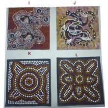 Aboriginal Art Hand Painted Canvas 20x20cm Assorted
