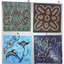 Aboriginal Hand Painted Canvas 20x20cm Mixed Styles