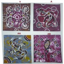 Aboriginal Art Hand Painted Canvas 20x20cm