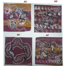 Aboriginal Art Hand Paintings on Canvas 20x20cm