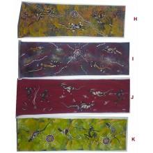 Aboriginal Contemporary Art Hand Painted Canvas - 58x17cm