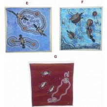 Aboriginal Contemporary Art Hand Painted Canvas - 35x35cm