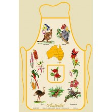 Souvenir Kitchen Apron - Australian Flora and Fauna