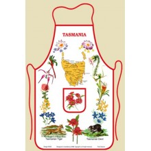 Australian Souvenir Kitchen Apron featuring Tasmania and Tasmanian Flora