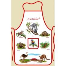 Souvenir Kitchen Apron - Australian Animals