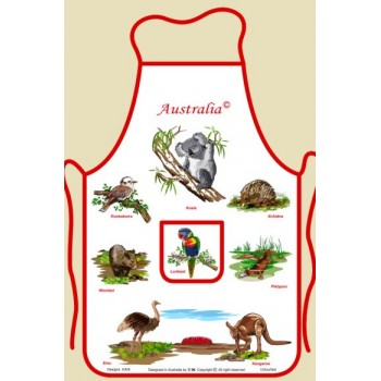 Souvenir Kitchen Apron - Australian Animals