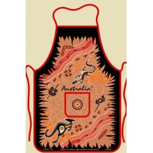 Souvenir Kitchen Apron - Australian Aboriginal Art