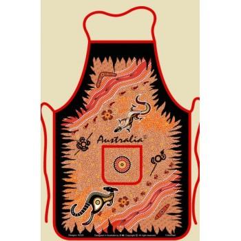 Souvenir Kitchen Apron - Australian Aboriginal Art