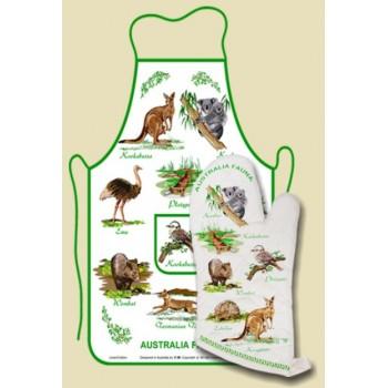 Apron Oven Mitt Set  - Australian Fauna