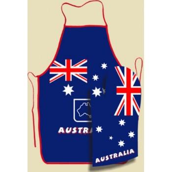 Apron Oven Mitt Set  - Australian Flag