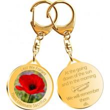ANZAC Gift - Gold Poppy Key Ring