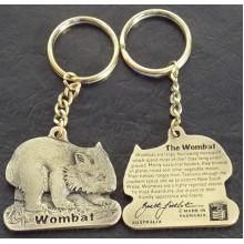 Wombat Keyring Brass