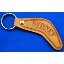 Boomerang Key Ring - Leather Sydney