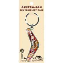 Boomerang Key Ring - Aboriginal Art 3