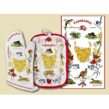 Souvenir Hot Pot and Tea Towel Set - Tasmania