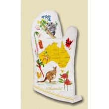 Souvenir Oven Mitt - Australian Flora and Fauna