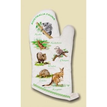 Souvenir Oven Mitt - Australian Fauna