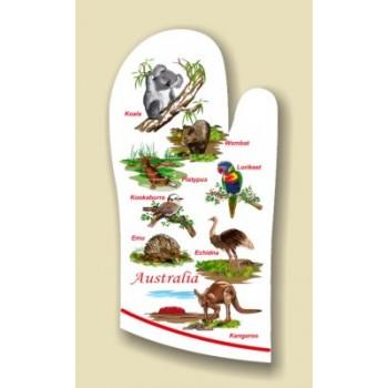 Souvenir Oven Mitt - Australian Animals