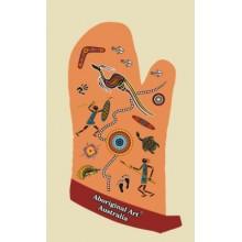Australian Souvenir Oven Mitt - Aboriginal Art Tales