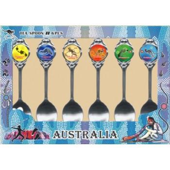 Australian Souvenir Spoons. A Set of Six Australian Animals Range