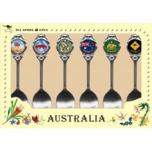 Australian Souvenir Spoons. A Set of Six Mixed Range