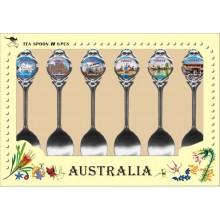 Australian Souvenir Spoons. A Set of Six Spoons featuring Sydney
