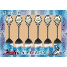 Australian Souvenir Spoons. A Set of Six Spoons featuring Cities of Australia