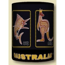 Australian Souvenir Stubby Holder - Dot Art Australian Animals