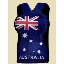Australian Souvenir Stubby Holder - Australian Girl