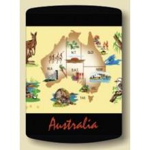Australian Souvenir Stubby Holder - Map of Australia