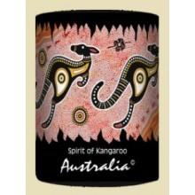 Australian Souvenir Stubby Holder - Kangaroo Hopping