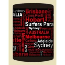 Australian Souvenir Stubby Holder - Australian Destinations