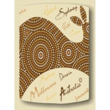 Australian Souvenir Stubby Holder - Dot Art Kangaroo